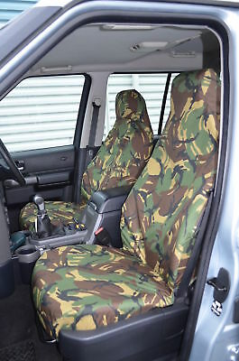 Fiat 500 2008 On Green Camouflage Heavy Duty 1+1 Seat Covers