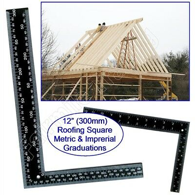 """Metal Roofing Set Square 12""""(300mm) x 8""""(200mm) Metric Imperial Rafter Tri Wood"""