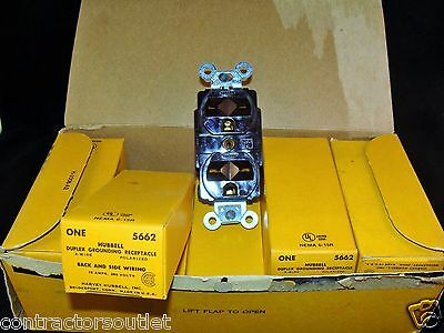 New Overstock Hubbell 5662 Brown Duplex Grounding Receptacle, 15A, 250V (LOT=9)