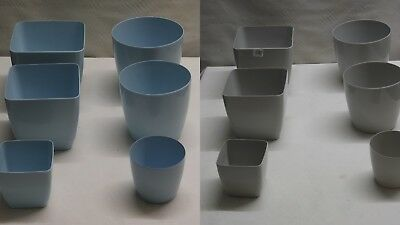 Square and Round Coloured Plastic Indoor Plant Pot Covers