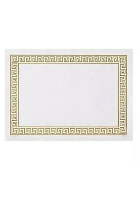 "Hoffmaster 310640 Placemat, Greek Key Straight Edge Square Corner 10"" x 14""  DD4"