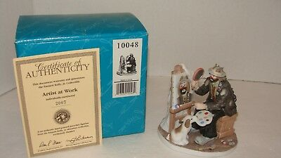 Emmett Kelly Jr. Artist at Work Miniature Collection Numbered 2007