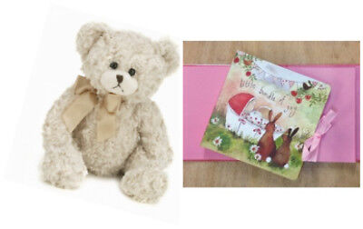 ALEX CLARK Bunny Baby Girl Photo Album Book PH01 & BEARINGTON BEAR Baby Huggles