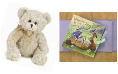 ALEX CLARK Bunny Baby Boy Photo Album Book & BEARINGTON BEAR Baby Huggles