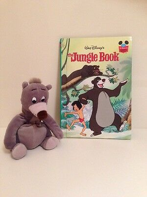 Small Disney Baloo Plush Soft Toy And 1993 The Jungle Book From Disney