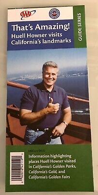 Huell Howser ~ RARE Limited Edition AAA That's Amazing Guide Map ~ FREE SHIP