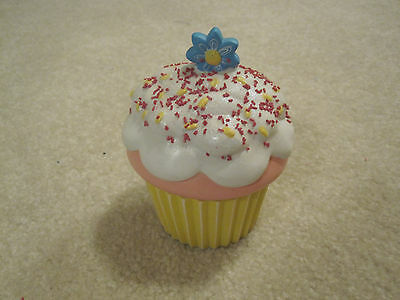 Cupcake candle ceramic holder Easter flower vanilla flavor new