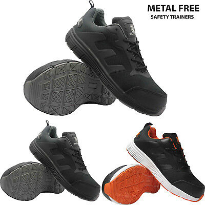 Mens Womens Ultra Light Metal Free Composite Toe cap Safety Trainers Work Shoes
