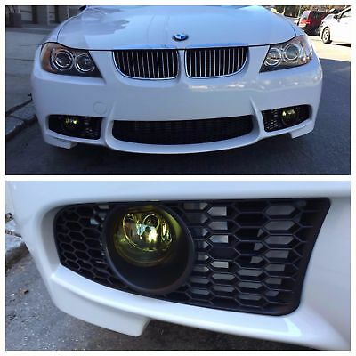 2006 08 E90 M3 Style Front Bumper For Bmw 3 Series W Yellow Amber