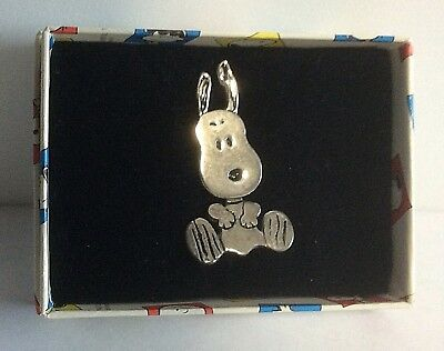 Vintage Peanuts SNOOPY Sterling Silver 925 Jewelry Valentines Pin Tie 1994 NEW