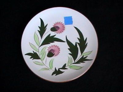 Stangl Pottery Pink Thistle Salad Plate Brown/Green