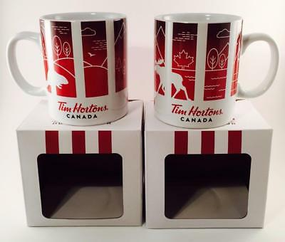 Lot Of 2 Tim Hortons Limited Edition Travellers Collection Canada Mug New