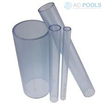 Clear PVC Pressure Pipe 40mm (500mm Length)