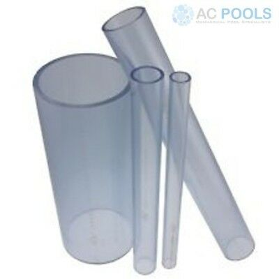 Clear PVC Pressure Pipe 50mm (500mm Length)