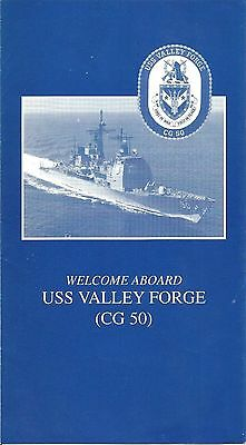 US Navy USS Valley Forge (CG 50)  Welcome Aboard Brochure Cdr William P. Hoker