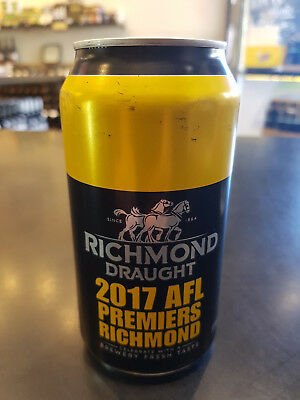 Afl Richmond Tigers Premiership 2017 Carlton Draught  Beer Can-Dusty  Martin -4-