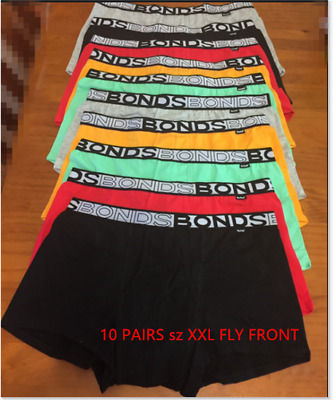 6 PAIRS OR 10 pairsX BONDS Mens sz S,M,L,XL FIT SHORTS / FLY FRONT Underwear