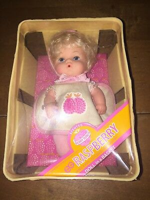 Vintage 1979 Berry Bunch Raspberry Doll In A Basket New In Package