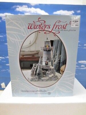 Dept. 56 Winters Frost ~ Christmas Village ~Winters Light # 809458 LIghthouse