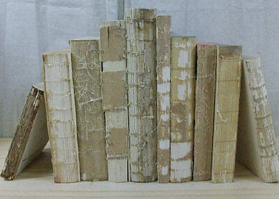 10 UNCOVERED RAW UNBOUND Antique Vintage Books Decorative FRENCH DECOR FARMHOUSE