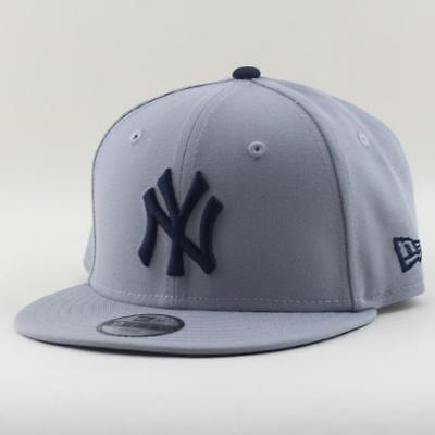 Youth New York Yankees Cap New Era MLB Team 9Forty Hat In Grey