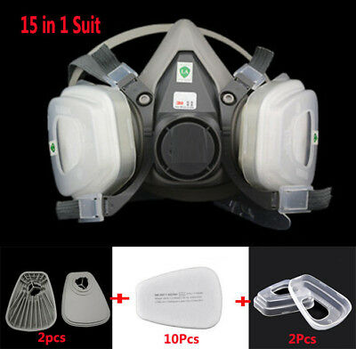 15 in1 Painting Spray For 3M6200 half face Gas mask Facepiece Respirator Masks