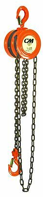 CM Series 622 Hand Chain Hoist, Hook Mount, 1/2 Ton Capacity, 25' Lift, 1... New
