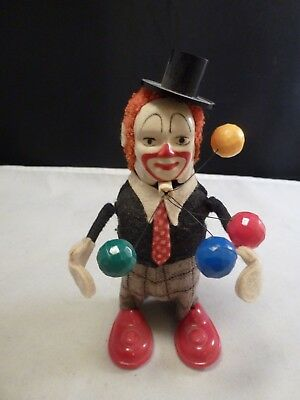 Schuco Juggling Clown with original  key US Zone Germany