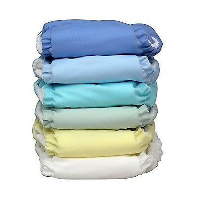 Charlie Banana 6 Reusable Diapers + 12 Inserts Set - Unisex Pastel - Small New