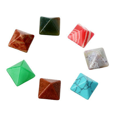 1 Set 7 Chakra Pyramide Stein Kristall Feng Shui Heilung Crystal Edelstein
