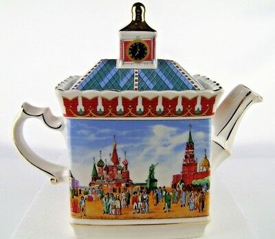 Sadler Teapot Russion Red Square Historical 2019292 Golden Dolphin England