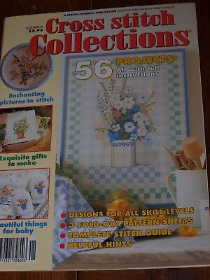 CROSS STITCH COLLECTIONS MAGAZINE ~ 56 PROJECTS & Instructions