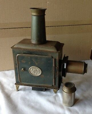 Antique Ernst Plank Magic Lantern Slide Projector –candle light source