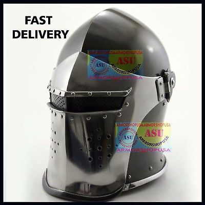 New Super Medieval Barbute Helmet Armour Helmet Roman knight helmets