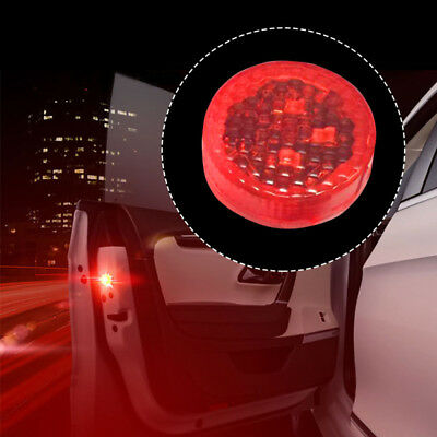 2X Car Door Warning Magnetic Induction LED Flashing Anti - collision Door Lights