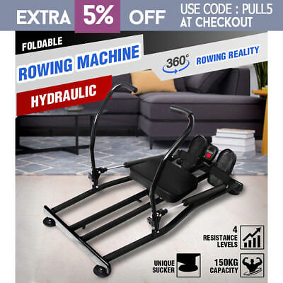360° Fitness Hydraulic Rowing Machine Indoor Rower Cardio Cardio Exercise Gym OZ