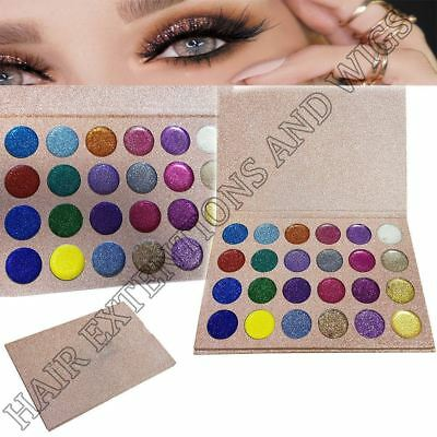 Glitters Eyeshadow Palette Ultra Pigment Make Up Shimmer 24 Colours Eye Shadow