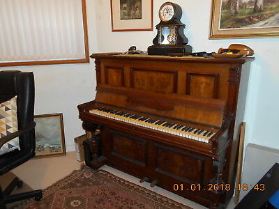 Upright antique German piano steel frame