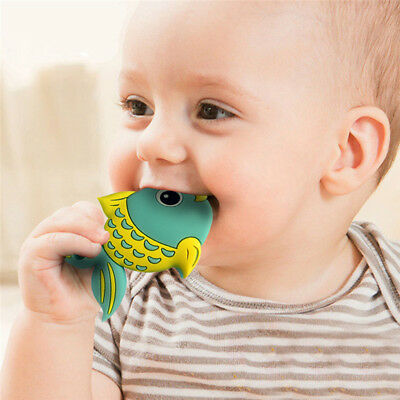Safety Food Grade Silicone Fish Baby Teething Chew Toy Teether Grind Baby Teeth
