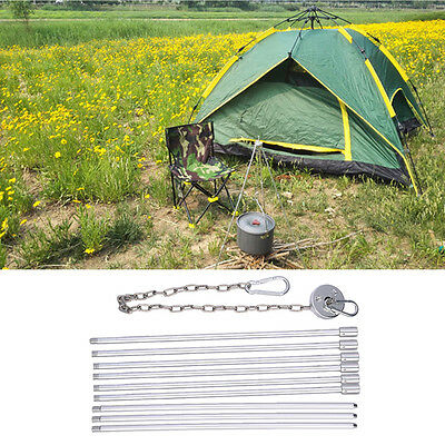 Portable Picnic Cooking Tripod Outdoor Camping Campfire Grill Stand Hanging Pot
