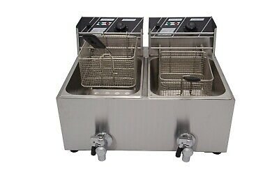 Brand New Hot Sale Double Tank Fat Chip 22.5L Commercial Electric Deep Fryer