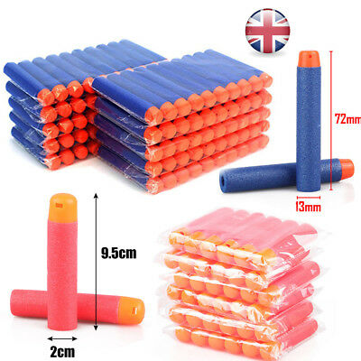 1-500pcs Gun Soft Refill Bullets Darts Round Head Blaster For Nerf N-Strike Toy