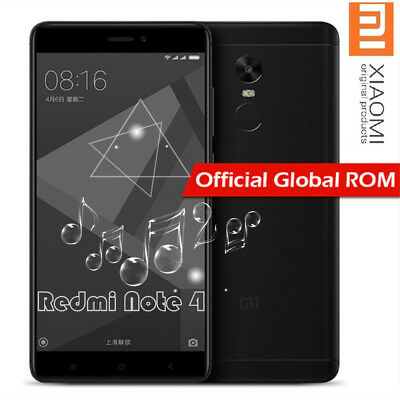 "Global 5.5"" Xiaomi Redmi Note 4 4G Smartphone 64Go/4Go 8*Core Snapdragon625 Noir"