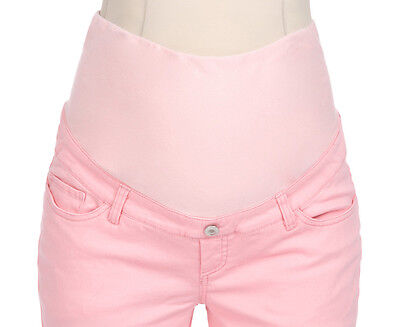 RIPE HIPSTER PINK MATERNITY SKINNY STRETCH CAPRI JEANS NWT SIZE 6 to 8 XS