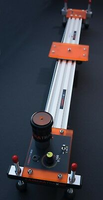 Camera slider single track motorised variable speed slider