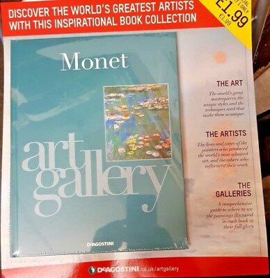 DeAgostini Art Gallery Artists Book Collection = Partwork Issue # 1 = Monet