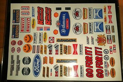 VINTAGE CUSTOM BUGGY TAMIYA HPI LOSI  PRECUT DECALS STICKERS 1/10 1/12th RC CARS