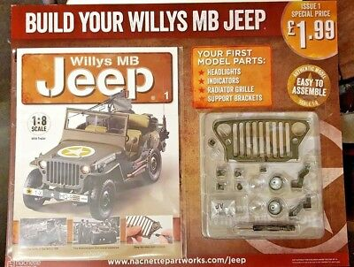 Hachette = Build Your Willys Mb Jeep = Partwork = # 1 = 1: 8 Scale With Trailer