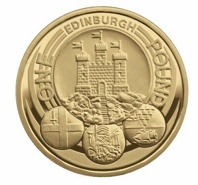 Rare Uncirculated Condition Edinburgh £1 One Pound 1 Coin Hunt 2011 Capital City