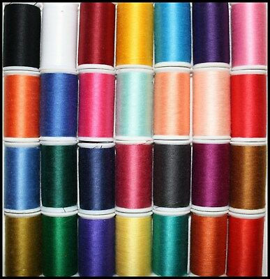 Lesur Sateen 100% Polyester Cotton Sewing Thread 100M Spools Machine Hand